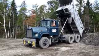 Mack Dump Trucks in Action