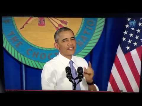 President Obama speaks before the Choctaw Nation