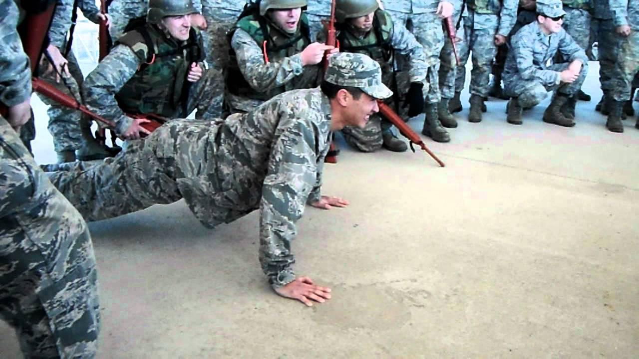 Air Force OTS push ups part 2 - YouTube