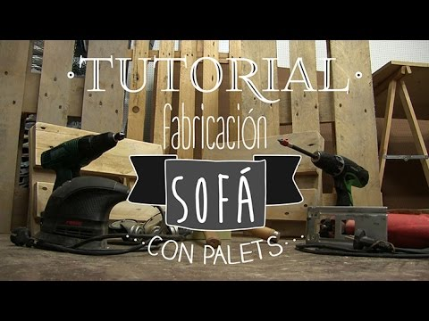 Tutorial fabricaci n sof con palets youtube for Sofa de palets exterior