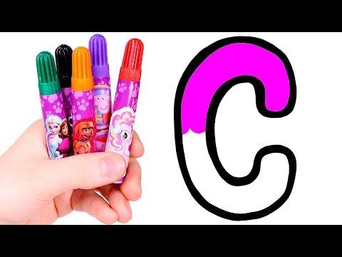 Dibuja y Colorea la Letra C 🅰️🎨 Aprende el abecedario
