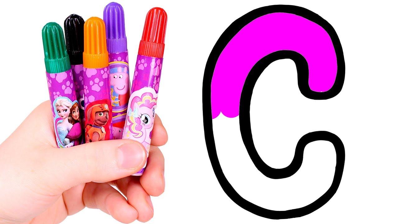 Dibuja Y Colorea La Letra C Aprende El Abecedario Youtube