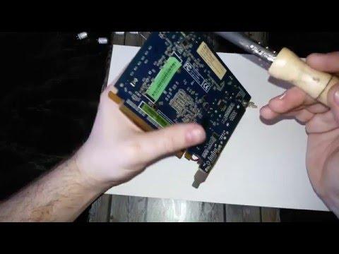 видеокарта артефакты ремонт