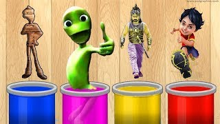 Wrong Wooden colors Gattu Shiva Bahubali Alien Learning colors for Kids | Learning Kids Videos