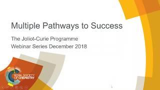 Joliot Curie Webinar Programme 2018 Multiple Pathways to Success thumbnail