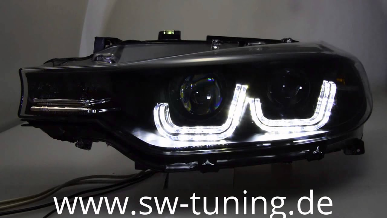swdrltube angel eye scheinwerfer bmw 3er f30 f31 led tfl. Black Bedroom Furniture Sets. Home Design Ideas
