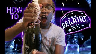 How to open a Bottle of Luc Belaire Rare Rosé