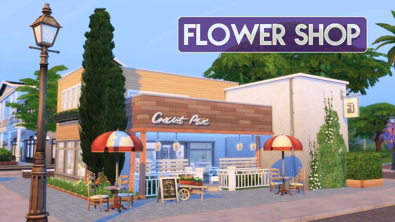 Sims 4 House Building Flower Shop Florist S Home