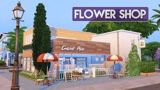 Sims 4   House Building   Flower Shop + Florist