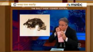 Colbert and Jon Stewart on the Curiosity the Mars Rover