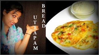 Bread Uttapam Recipe In Hindi-Indian Snacks Recipes-Indian Recipe-Vegan Indian Recipes-Recipe Ekta