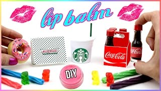 DIY Lip Balm {Easy}! 5 Mini Soda Bottles, Starbucks, Candy & Donut Lip Gloss DIYs! Lip Balm How To