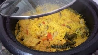 Chicken Biryani in Electric Rice Cooker