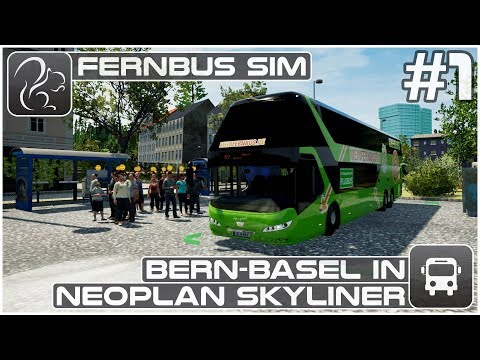 Bern-Basel in Neoplan Skyliner - Part 1 (Fernbus Coach Simulator)