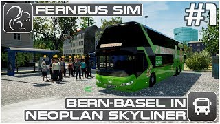Bern-Basel in Neoplan Skyliner - Part 1 (Fernbus Coach Simulator)