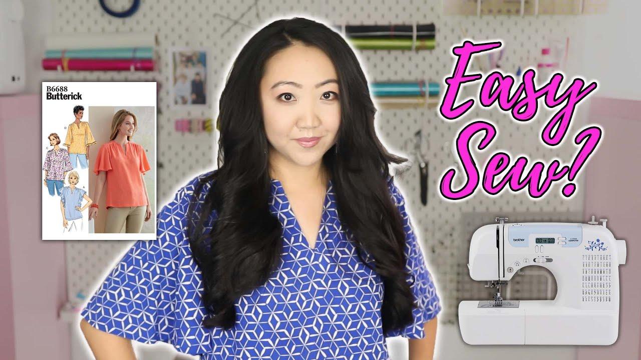 Cute Summer Top! 👚 Butterick B6688 Sewing Pattern Review