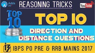 IBPS PO PRE & RRB MAINS   Top 10 Direction and Distance Questions   Reasoning
