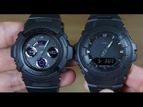 CASIO G-SHOCK AW-591BB-1A VS G-SHOCK G-100BB-1A