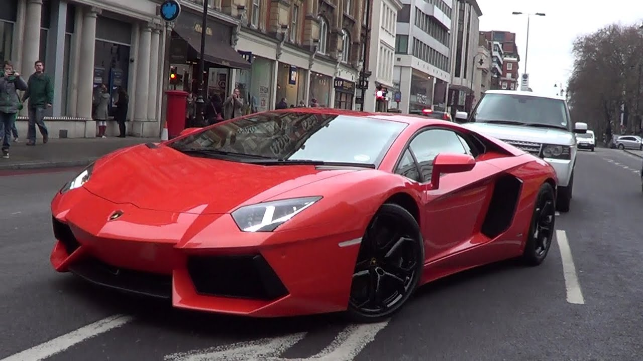 Orange Lamborghini Aventador: Orange Or Grey?? - YouTube