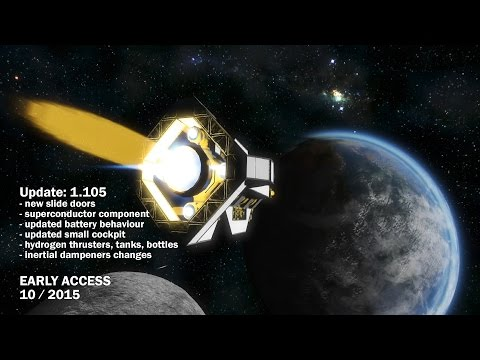 Space Engineers - Update 01.105 - Hydrogen thrusters, MP and battery improvements,Slide doors