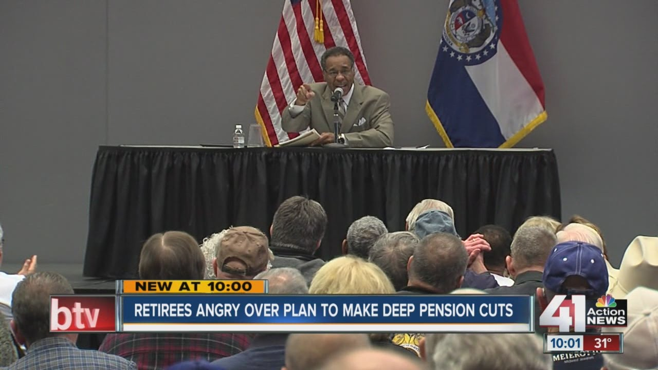 Retirees angry over plan to make deep pension cuts