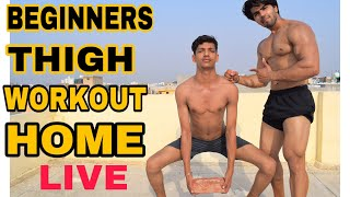 THIGH WORKOUT AT HOME| LIVE STREAM BADRI FITNESS