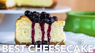 Dessert: Best Cheesecake With Blueberry Topping - Natashas Kitchen