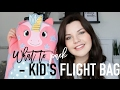 What to pack - Kid's flight bag