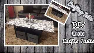 DIY CRATE COFFEE TABLE | CRAFTING TABLE