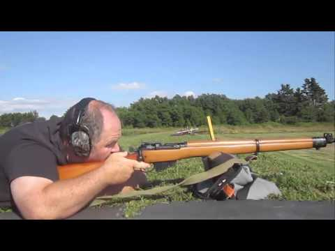 Lee Enfield No 4 Mark 1-2 at 300 yards using battle sights