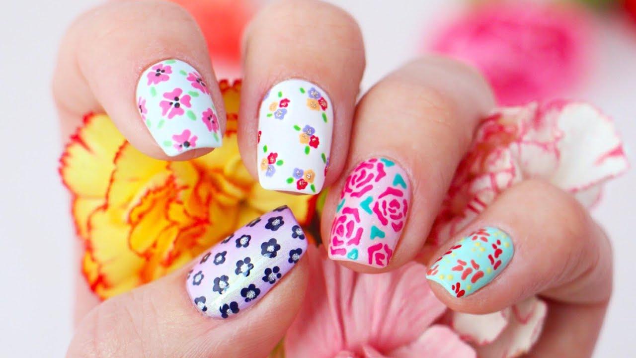 5 floral nail art design