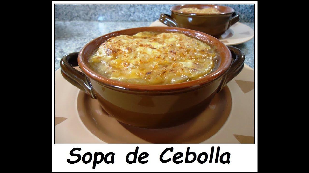 Sopa de cebolla receta original youtube - Sopa de alcachofas para adelgazar ...