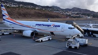 Madeira Airport SmartWings Boeing 737 landing Takeoff