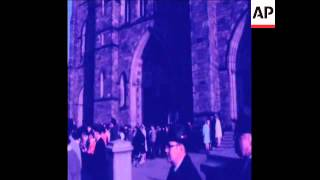 SYND 4-11-70 The body of Richard Cardinal Cushing lays in state in the Holy Cross Cathedral