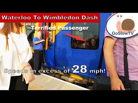 Waterloo to Wimbledon Trains Ride   High Speed Train Dash   London   UK (2018)