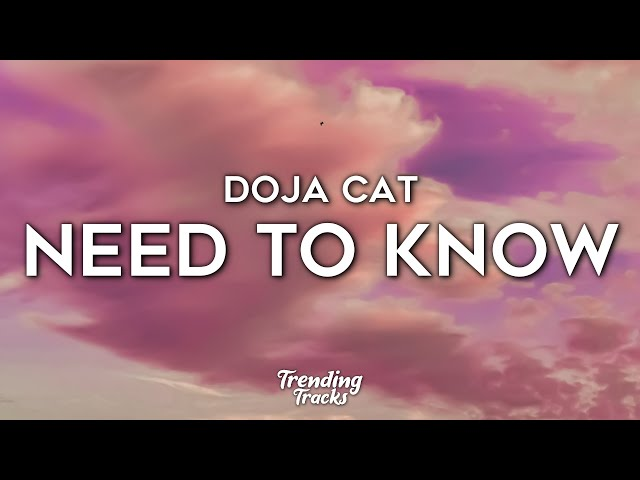 Doja Cat - Need To Know (Clean - Lyrics)