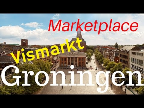 Groningen, The Netherlands(5/11) Vismarkt (Marketplace).. City Center Tour (4K)