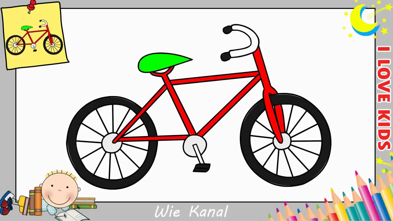 fahrrad zeichnen lernen einfach aktualisieren f r anf nger kinder 2 youtube. Black Bedroom Furniture Sets. Home Design Ideas