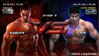 Tekken 6 PSP - Kazuya Mishima Playthrough