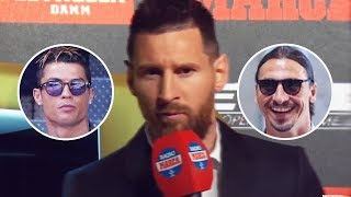 Lionel Messi's perfect response to Cristiano Ronaldo and Zlatan Ibrahimović's arrogance | Oh My Goal