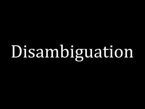 How to pronounce Disambiguation