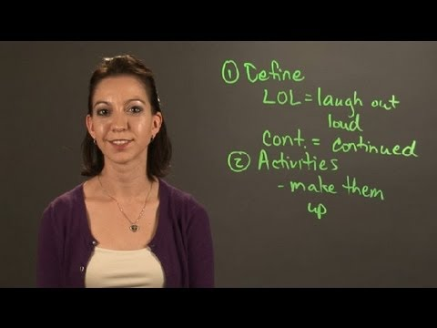 Teaching Children Acronyms & Abbreviations : English & Grammar