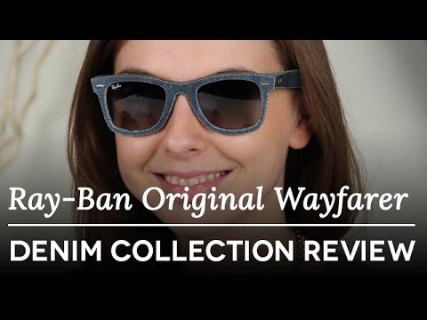 87e8610758 Ray-Ban RB2140 Original Wayfarer Denim Collection - Original Wayfarer  Sunglasses review