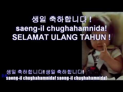 생일 축하합니다 Happy Birthday Song Lyrics Korean Indonesian