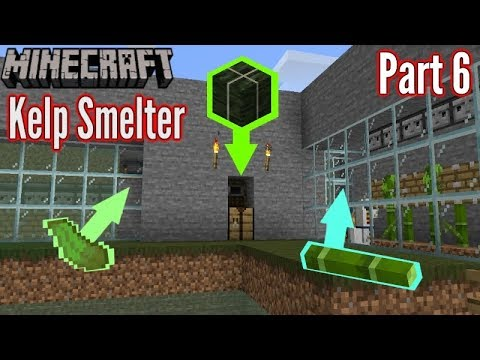 Minecraft Ep6 Automatic Kelp Smelter Fuel Xp Farm Prototype Youtube