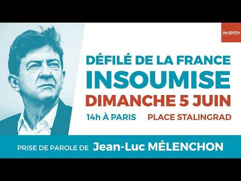 Défilé de la France insoumise - Avec Jean-Luc Mélenchon