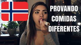 EXPERIMENTANDO COMIDAS NA NORUEGA 🇳🇴 | Nicole Trindade