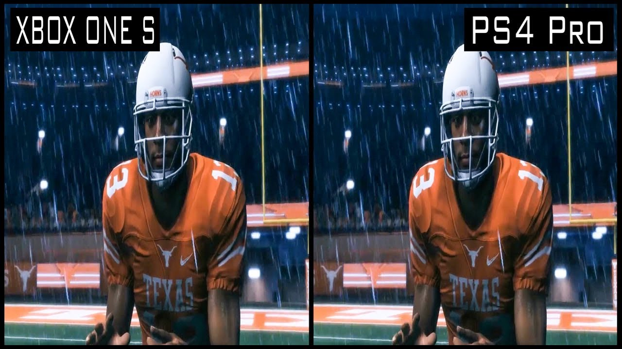 Madden NFL 18 PS4 Pro vs Xbox One s Graphics Comparison  YouTube