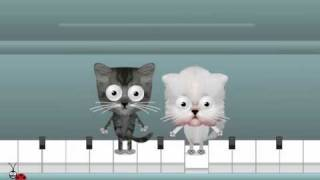 Dancing Cats on a Piano.  Happy BirthDay !!