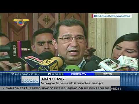 Adan Chávez: Tenemos una verdadera democracia y protagónica